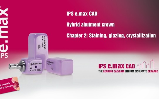 IPS e.max CAD Hybrid abutment crown   Chapter 2: Staining, glazing, crystallization