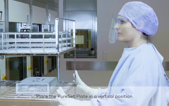 PureSet Step-by-step video reprocessing in a hospital setting