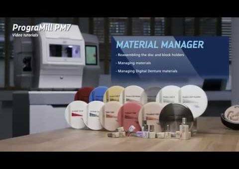 Video tutorial PrograMill PM7 – Managing materials
