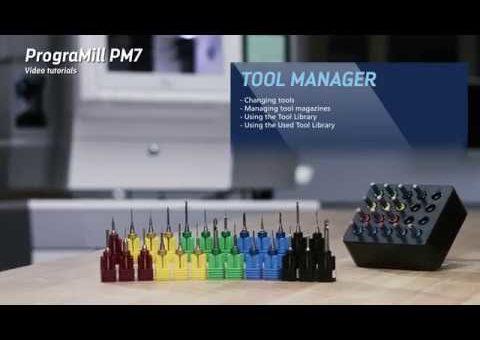 Video tutorial PrograMill PM7 – Managing tools