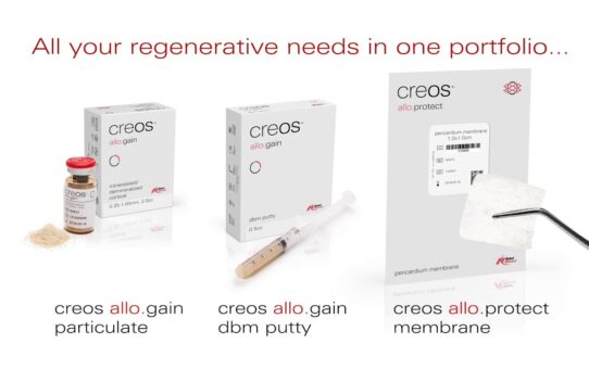 creos allograft - Materials for reliable bone regeneration